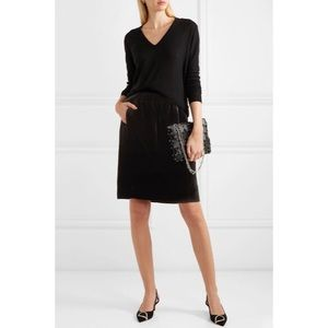 J. Crew Black Velvet Skirt With Pockets